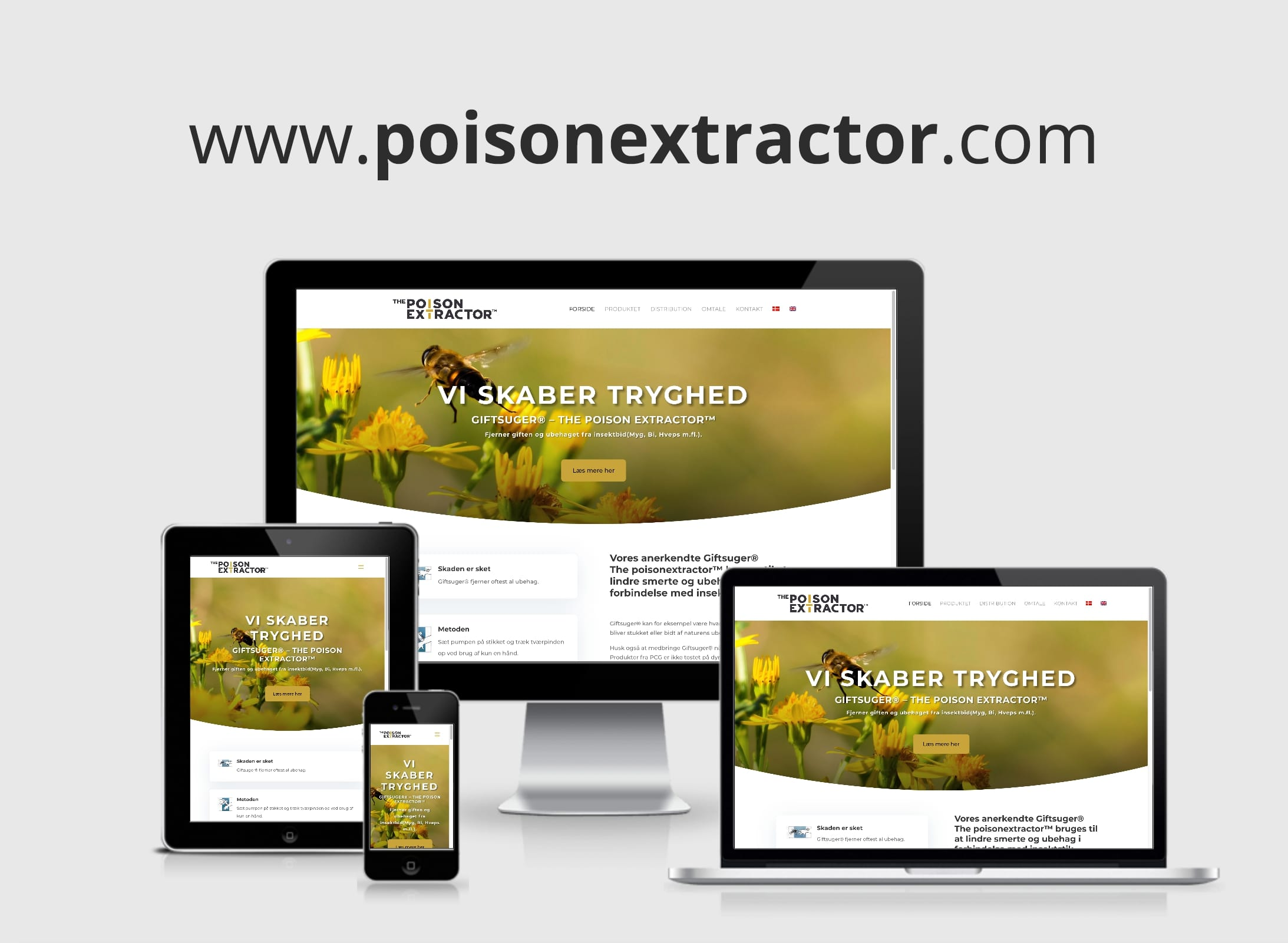 Webdesign  / Hjemmeside the poison extractor af copengraphics